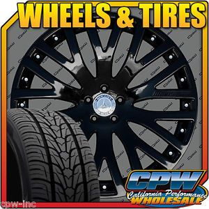 "New Set of 4 22"" inch Mercedes Benz Wheels Tires Package GL350 GL450 GL550"