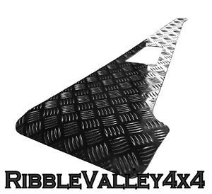 Land Rover Defender 90 110 Chequer Plate Wing Top Protectors 2mm Black Pair New