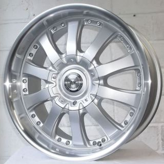 "18"" Peugeot 3008 2009 on DVD 706 Sil Pol Retro Alloy Wheels 4x108"
