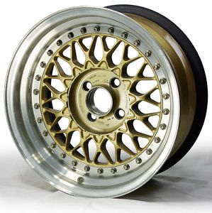 "15"" Factory Gold BBs RS Wheel for Maserati Biturbo 4x98 15x7 0mm"