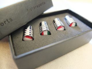 V 075 Italy Flag Tire Wheel Air Valve Caps Stem Cover for Ferrari Alfa Romeo