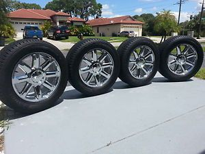 "20"" GMC Yukon Denali Wheels Rims Tires Center Caps Sierra C3 Silverado Tahoe"