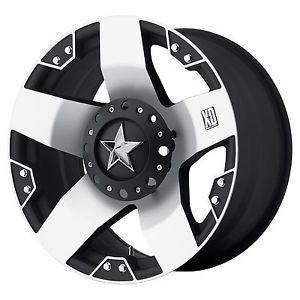 18 inch Black Mach Wheels Rims XD 775 Rockstar Chevy GMC 1500 Trucks 6 Lug 6x5 5