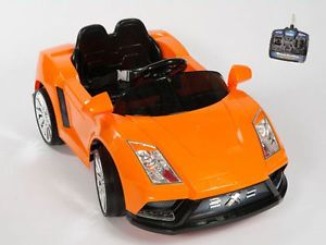Lamborghini Style Orang Ride on Kids Electric Power Wheels Car Remote Controlled