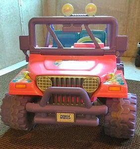 Power Wheels Ride on Outdoor Battery Included Powered Barbie Jeep Wrangler