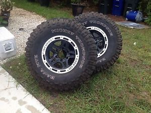 "15"" Black Incubus Off Road Wheels Rims 6x5 5 Toyota Mitsubishi Nissan Chevy"