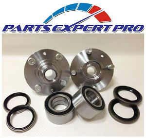 2000 2002 Mitsubishi Mirage Front Wheel Hubs Bearings Seals Kit