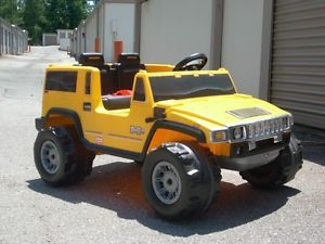 Little Tikes Yellow Power Wheels Hummer H1