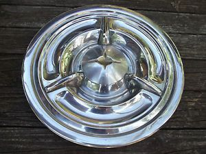 57 1957 Olds Flipper Spinner Tri Bar Hubcap Wheel Cover 88 98 Holiday Fiesta 14""