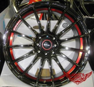 17x7 Black Chrome Red Wheels Rim Ford Holden Toyota Car