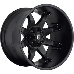 20x12 Black Fuel Octane Wheels 8x6 5 44 Lifted Hummer H2 Dodge RAM 2500