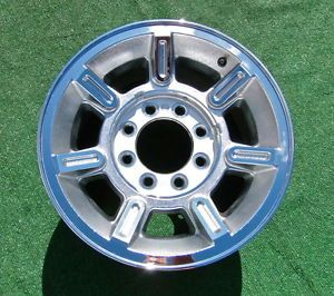 Takeoff 2004 2005 2006 Genuine Factory Chrome Hummer H2 17 inch Wheel 6301