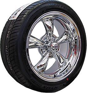 17x7 17x8 Chrome Rev Classic 100 Wheels Rims Nexen Tires Pontiac GTO 1964 1965