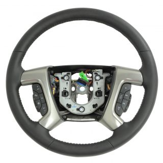 2009 Genuine Hummer H2 Black Leather Steering Wheel 25995626