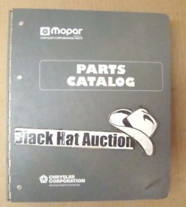 1999 Jeep Grand Cherokee Parts Catalog Manual Mopar