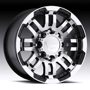 16 inch Vision Warrior Black Wheels Rims 8x6 5 RAM 2500 3500 Hummer H2 Silverado