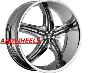 2CRAVE No 5 20 inch Chrome Wheels Rims Tires Fit Honda Toyota Kia Nissan Deals