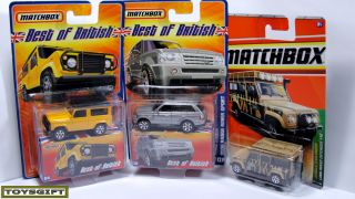 RARE Lot 17 Matchbox Land Rover Defender Range Discovery Freelander 90 UK Legend