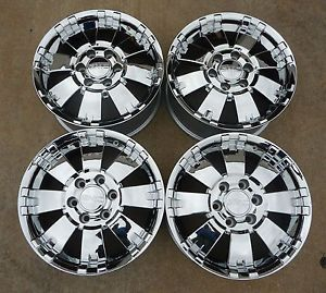 "2000 2013 Sierra Yukon Yukon XL Denali 18"" Chrome Wheels 17801491"