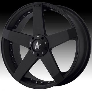 22 inch KMC Black Wheels Rims 5x4 5 5x114 3 Mustang Escape Explorer Element CR V