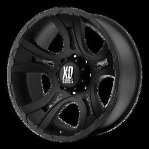 17 inch Black Wheel KMC XD Crank 801 Ford F250 350 Superduty 8 Lug Trucks 8x170