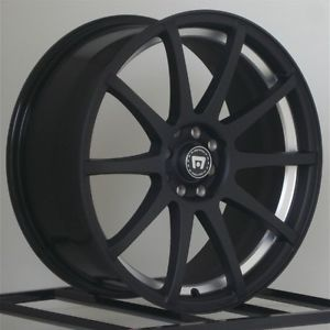 15 inch Wheels Rims Motegi Racing Flat Black 5 Lug SP10