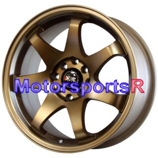16 16x7 XXR 522 Bronze Concave Rims Wheels 4x100 92 97 98 02 Honda Civic SI EX