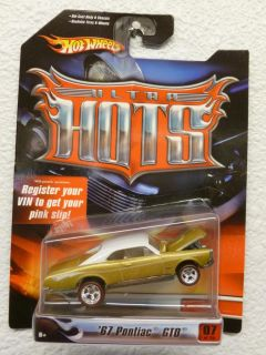 Hot Wheels Ultra Hots '67 Pontiac GTO 7 36 Special Wheels Rubber Tires