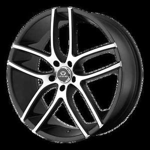 "20"" Machine Black Rims Tires 5x114 3 Camry Accord Fusion Nissan G35 Lorenzo"