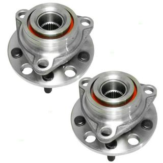 New Pair Set Wheel Hub Bearing Nut Seal Assembly Buick Chevy Olds Pontiac