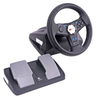 Logitech NASCAR Racing Game Controller Steering Wheel Pedals PlayStation 2 PS2