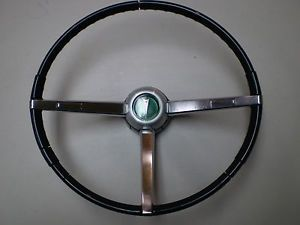 1967 1968 Pontiac GTO Firebird etc Steering Wheel Black Complete 67 68