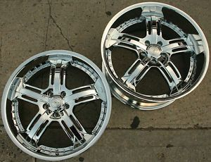 Legacy LG503 20 x 8 0 10 Chrome Rims Wheels Benz S430 S600 Staggered 5H 34