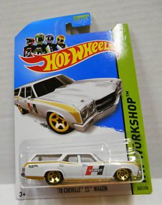 '70 Chevelle SS Wagon Hurst White 2014 Hot Wheels New C Case