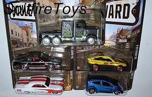 Hot Wheels 2013 Boulevard M Set All 5 Long Gone Fiesta CR x Hurst Olds Chevelle