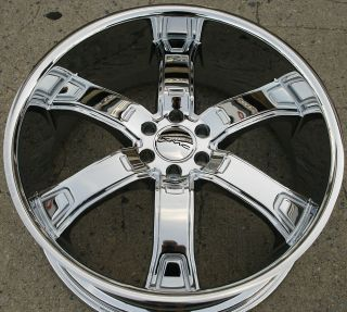 KMC Brodie KM671 22 x 9 5 Chrome Rims Wheels Nissan Pathfinder 05 Up 6H 30