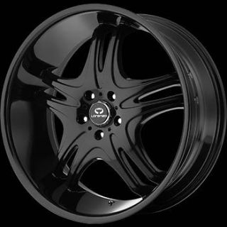 20x10 Black Lorenzo WL031 Wheels 5x115 18 Dodge Challenger SRT8 Charger SRT8