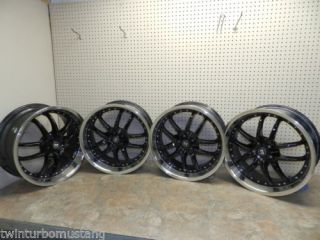"Motegi Racing Rims Set of 4 18x8"" inch 5x100 Lug Pattern Black Chrome Lip Wheels"