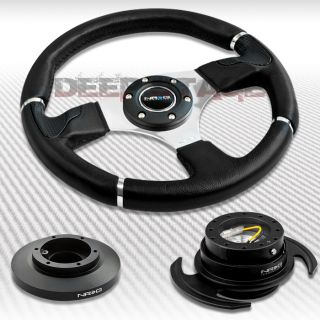 NRG Black Steering Wheel Hub Black Gen 3 0 Quick Release Kit 91 98 BMW E36 M3