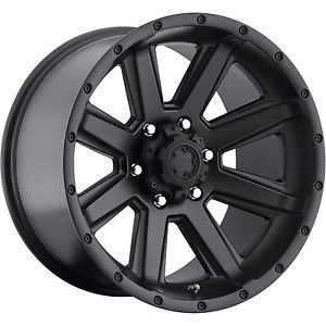 15x8 Satin Black Ultra Crusher 195 Wheels 6x5 5 19 Lifted Toyota 4 Runner
