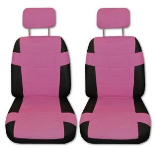 Superior Artificial Leather Pink Black Car Truck Seat Covers Set with EXTRAS A