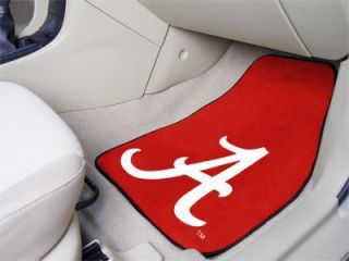 "Alabama Crimson Tide 2 Piece Car Front Floor Mats FANMATS 18""x27"" NCAA"