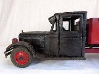 RARE 1930s Buddy L Dump Truck Original Paint Estate Find Large Size Antique Toy