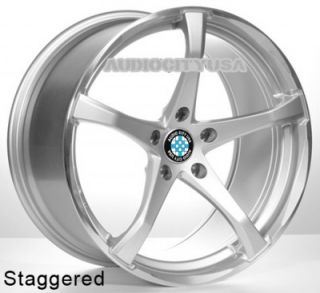 "19"" KOG Sil for BMW Wheels and Tires Staggered Rims 1 3 5 6 7 Series M3 M4 M5"