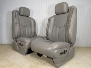 99 06 GM Silverado Sierra Yukon Tahoe Suburban Front Leather Heated Seats