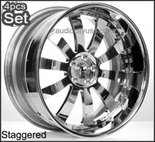 "22"" AC Forged for Lexus Altima Impala Infiniti Jaguar Wheels Rims 3pc Forged"