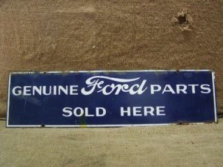 Vintage Ford Parts Sign Antique Old RARE Car Truck Tractor Dealer Store 6495