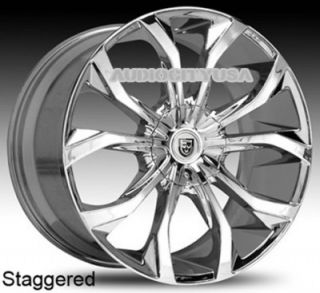 "22"" Lexani Lust CH Wheels and Tires Rims for Chevy Tahoe Escalade Yukon RAM Ford"