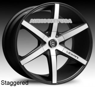 "22"" Lexani R Six BM for Land Range Rover Wheels and Tires Rims HSE Sports"
