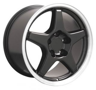 "17"" Black Corvette ZR1 Wheels Set of 4 Rims Fit Chevrolet Camaro SS 1994 2002"